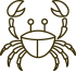 black crab icon