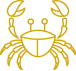 gold crab icon