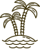 black palm tree icon